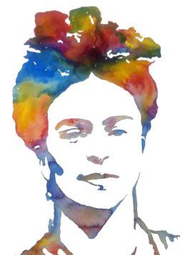 Frida watercolour by Rhonda Murray