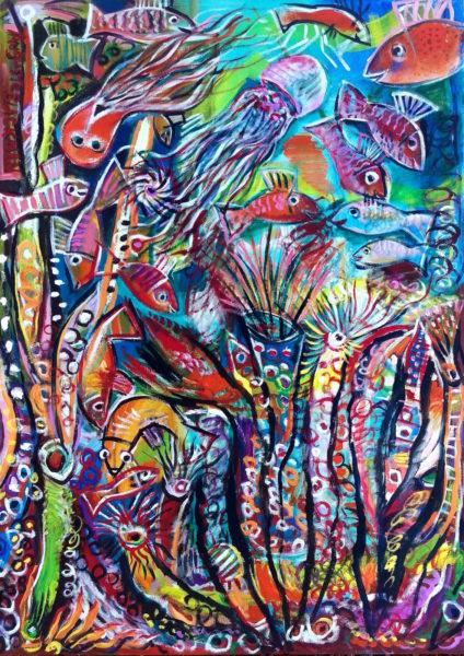 Great Barrier Reef by Auguste Blackman